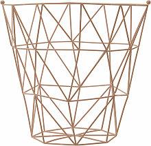 Premier Housewares Pink Iron Storage Basket With