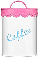 Premier Housewares Pink Lace Coffee Canister