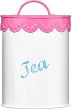 Premier Housewares Pink Lace Tea Canister