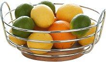 Premier Housewares Round Chrome Wire Fruit Bowl