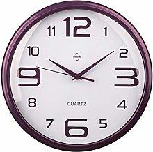 Premier Housewares Round Wall Clock - Matt Purple