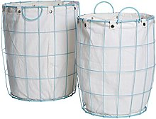 Premier Housewares Round Wire Laundry Basket with