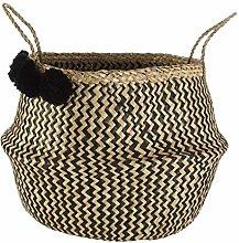 Premier Housewares Seagrass Storage Basket, Brown,