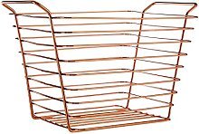 Premier Housewares Shine Wire Basket, Rose Gold,
