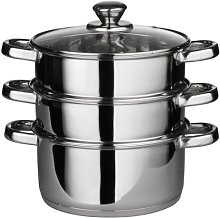 Premier Housewares Stainless Steel Steamer 3 Tiers