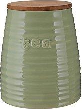 Premier Housewares Tea Canister Green Dolomite