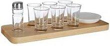 Premier Housewares Tequila Shot Glass Set - Wooden