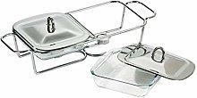 Premier Housewares Twin Food Warmer, 1 L -