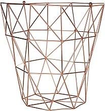 Premier Housewares Vertex Storage Basket - Copper