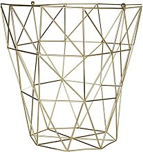Premier Housewares Vertex Storage Basket - Gold