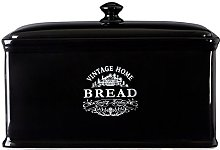 Premier Housewares Vintage Home Bread Box - Black
