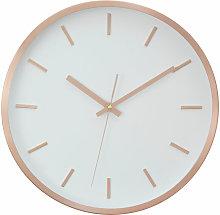 Premier Housewares Wall Clock Copper / White