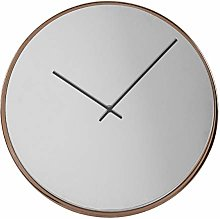 Premier Housewares Wall Clock, Metal, Mirrored