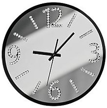 Premier Housewares Wall Clock With Diamantes