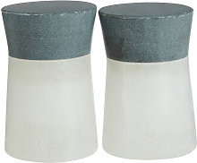 Premier Housewares White and Grey Salt and Pepper