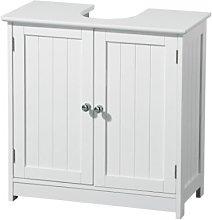 Premier Housewares White Pedestal Sink Under Sink