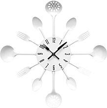 Premier Housewares White Wall Clock Kitchen Themed