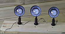 Premier- set of 3 disco ball path lights warm white