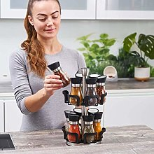 Premium 12 Jar Revolving herb pots Spice Tower and