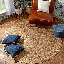 Premium 120cmx120cm Round Circular Jute Circle rug