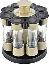 Premium 8 Jar Filled Herb And Spice Carousel,