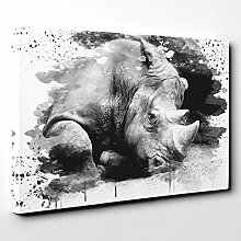 Premium Canvas print (20x14 Inch / 50x35 cm) Rhino