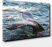 Premium Canvas Print (20x14 Inch / 50x35cm) Whale