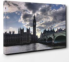 Premium Canvas Print (24x16 Inch / 60x40cm) Brown