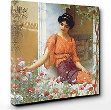 Premium Canvas Print (30x20 Inch / 76x50cm) Tigers