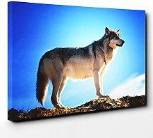 Premium Canvas Print (30x20 Inch / 76x50cm) Wolf |