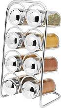 Premium Chrome 8-Jar Free-Standing Spice Rack