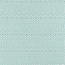 Premium Duck Egg Blue Geometric Pattern Fabric by