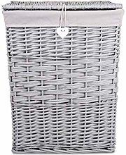 Premium Grey Paint Laundry Wicker Basket Cotton