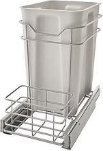 Premium Kitchen Steel 22 Litre Open Pull Out Bin