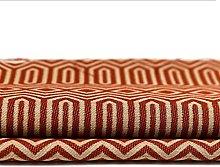 Premium Orange Geometric Pattern Fabric by The