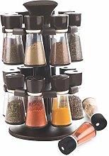 Premium Plastic 16 Jar Herb and Spice Carousel |