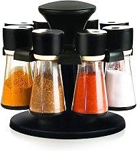 Premium Plastic 8 Jar Herb and Spice Carousel |