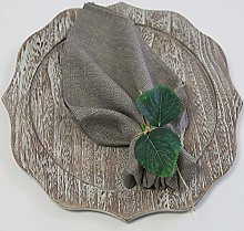 Premium Rustic Linen Napkins/Matching Table
