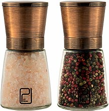 Premium Salt and Pepper Grinder Set - Best Copper