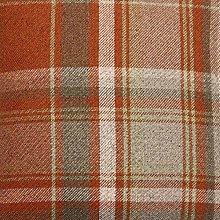 Premium Soft Teracotta Orange Tartan Fabric By The
