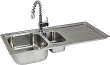 Premium Stainless Steel Kitchen Sink & Rainbow Tap