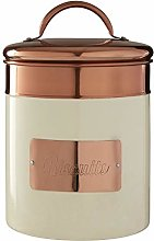 Prescott Cream and Copper Biscuit Canister Warm