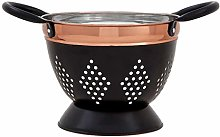 Prescott Small Charcoal Copper Colander Strong and