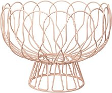 Present Time PT Home Metal Wired Fruit Bowl-Peach