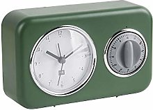 Present Time Table Clock, Dark Green, One Size