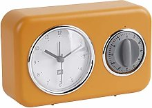 Present Time Table Clock, Ochre Yellow, One Size