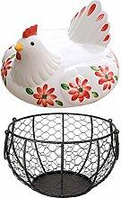 Presentimer Storage Eggs Basket Metal Mesh Wire