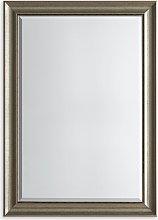 Presley Rectangular Wall Mirror, Antique Silver