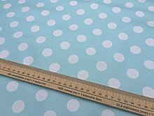 Prestige Fashion UK Ltd  20m Roll DUCK EGG Polka