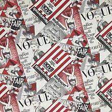PRESTIGE Vogue Magazine Cotton Fabric Retro